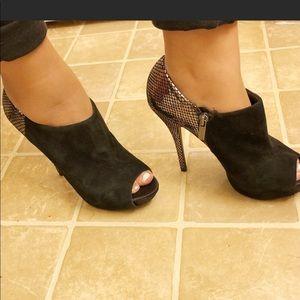 Aldo Ankle Bootie Open Toe High Heels
